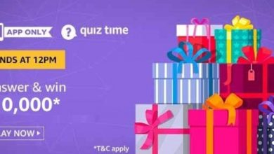 Photo of Amazon Quiz 9 Jan 2020 – Answer And Win 10,000 Pay Balance