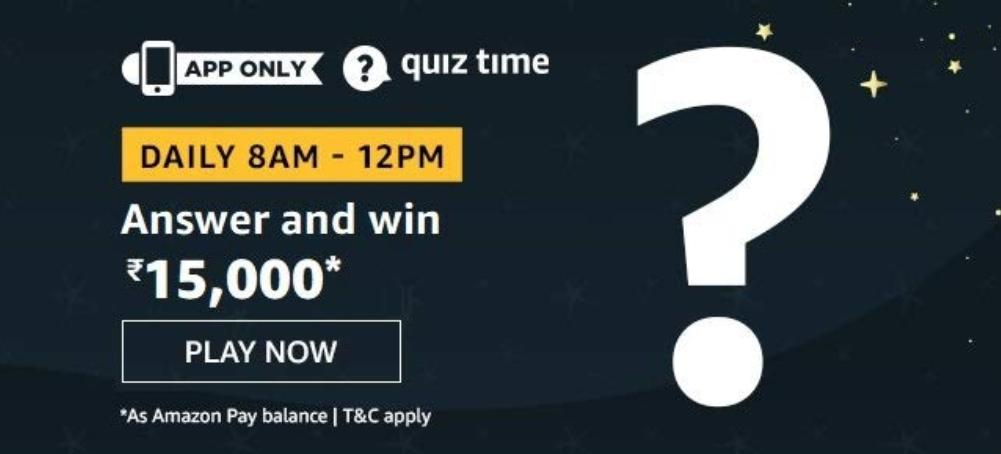 15000 Pay Balance Amazon Quiz Answers