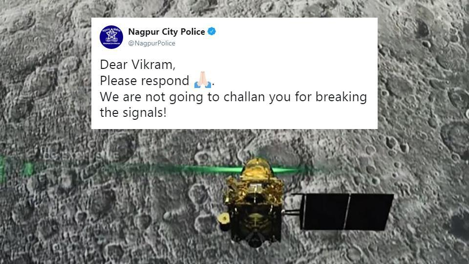 Photo of Internet is Loving Nagpur Police's Tweet on ISRO's Vikram Lander
