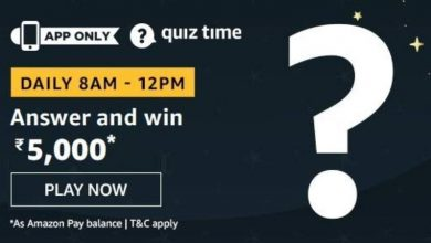 Photo of Play Amazon Quiz And Win Rs 5000 – 30th December 2019
