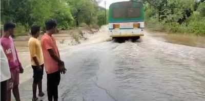 ST bus washed away