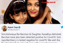 Photo of Aishwarya Rai Bachchan and her Baby Aradhya tested positive for COVID 19
