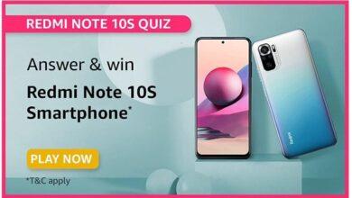 Amazon Remi Note 10S Quiz Answers