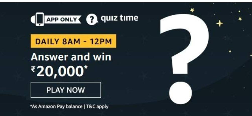 Amazon 20000 Pay Balance Quiz