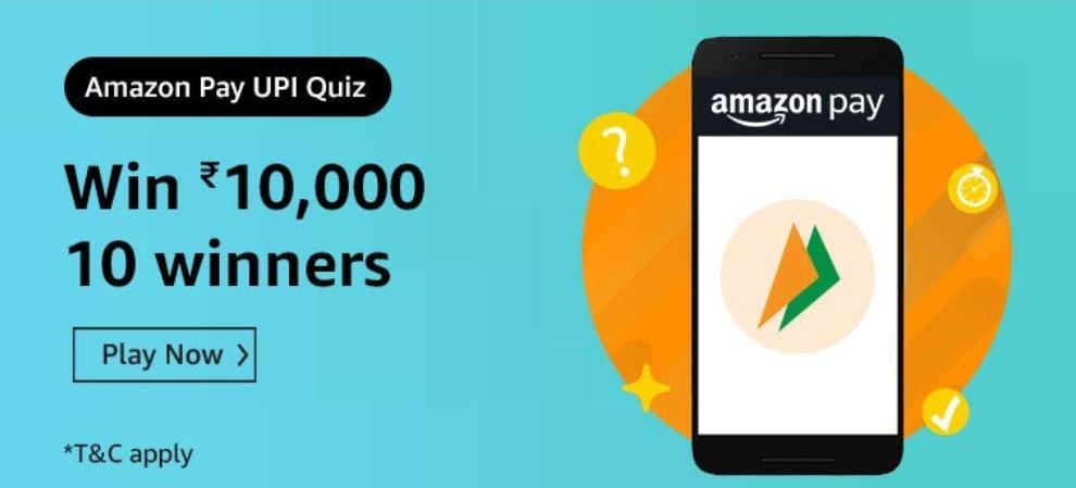 Amazon 20th Aug UPI Quiz Answers