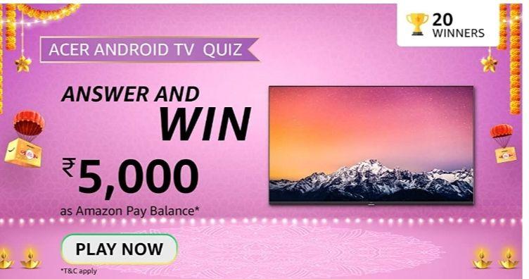 Amazon ACER TV Contest Quiz Answers