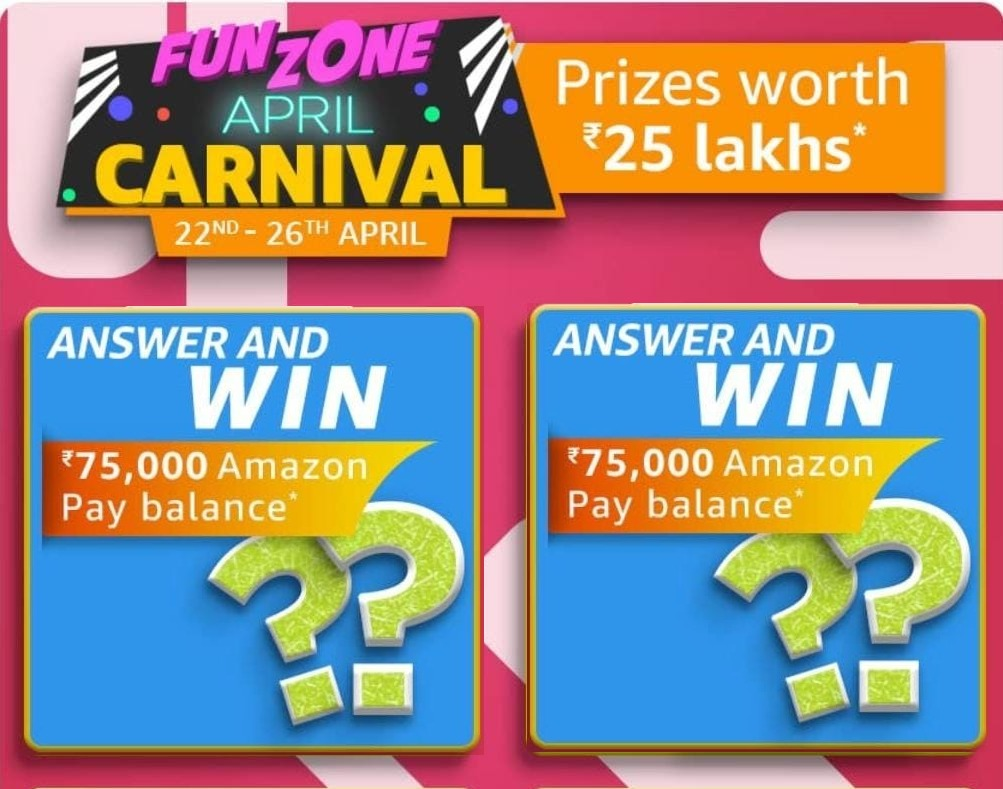Amazon April Carnival Edition Quiz Answers