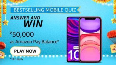 Amazon Bestselling Mobile Quiz answers