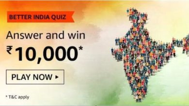 Amazon Better India Quiz Answer