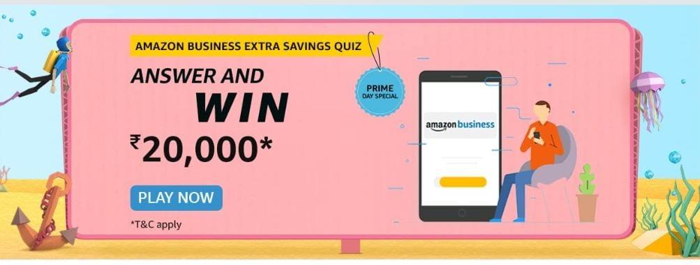 Amazon Business Extra Savings Quiz Answers