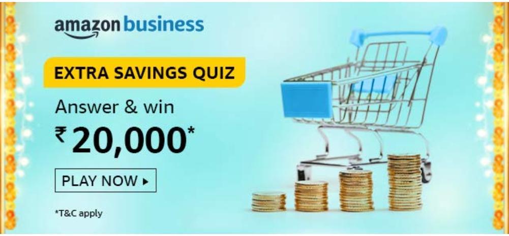 Amazon Extra Business Savings Quiz Answers
