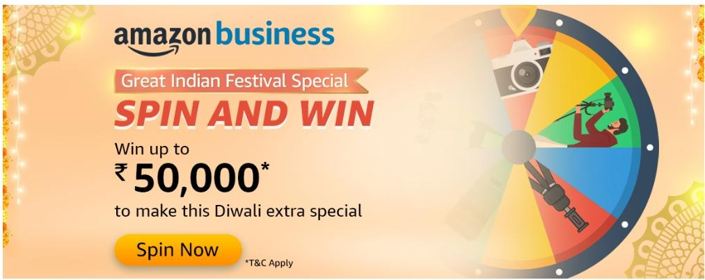 Amazon Business Quiz Answers Spin And Win Prize Worth Rs 50 000 Pay Balance Nagpur Oranges