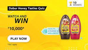 Amazon Dabur Honey Tasties Quiz Answers Win 10000
