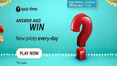 Amazon Daily Quiz Time Answers