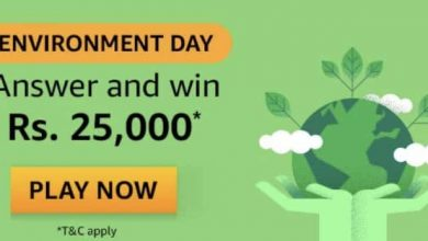 Photo of Amazon Environment Day Quiz Answers : Play And Win 25000 Rs Pay Balance (4 Prizes)