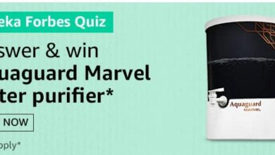 Photo of Amazon Eureka Forbes Quiz Answers: Participate And Win Aquaguard Marvel Water Purifier (12 Prizes)