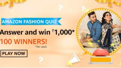 Photo of Amazon Fashion Quiz Answers: Play And Win Rs. 1000 Pay Balance