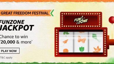 Amazon Funzone Jackpot Great Indian Festival Quiz Answers