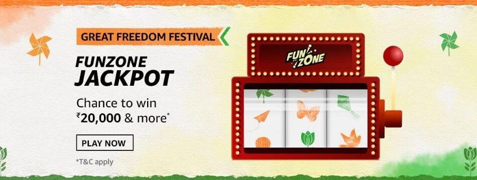 Amazon Great Freedom Festival Funzone Jackpot Quiz
