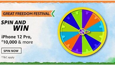 Amazon Great Freedom FEstival Spin & Win iphone 12 pro