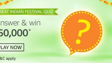 Amazon Great Indian Festival Quiz Answers