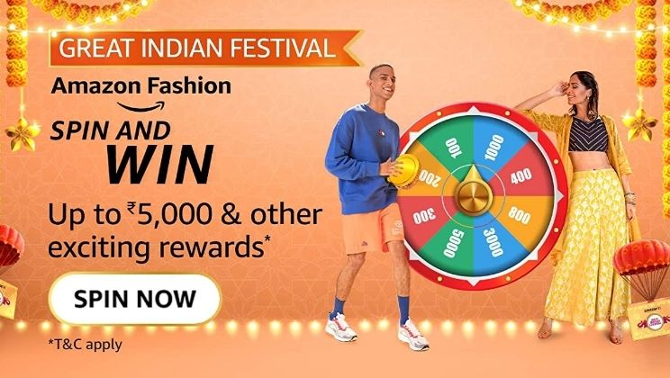 Amazon Great Indian Sale Fashion Spin And Win