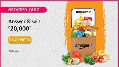 Amazon Grocery Quiz Answer