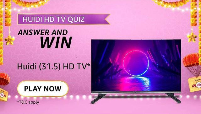 Amazon HUIDI HD TV Quiz Answers