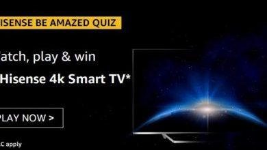 Amazon Hisense Amazed Quiz Answers