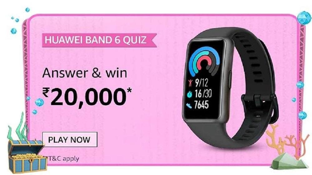 Amazon Huawei Band 6 Quiz Answers