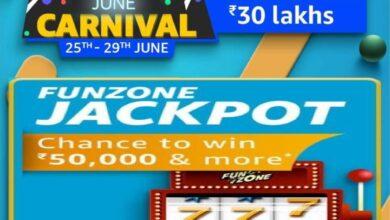 Amazon Funzone June Carnival Jackpot Quiz Answers
