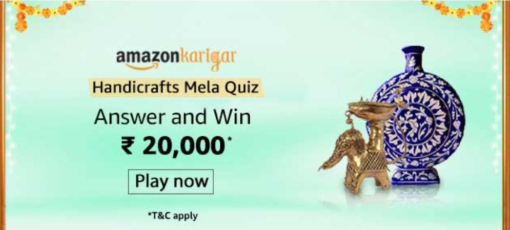 Amazon Karigar Handicraft Mela Quiz Answers