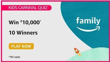 Amazon Kids Carnival Quiz Answers