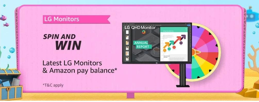 Amazon LG Monitor Spin And Win Quiz Answers