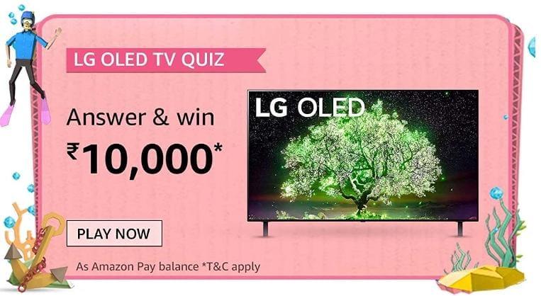 Amazon LG OLED TV Quiz Answers