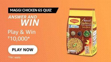 Amazon Maggi Chicken 65 Quiz Answers
