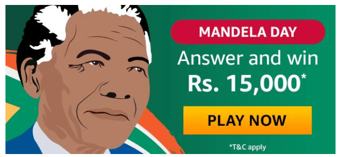 Amazon Mandela Day Quiz Answers