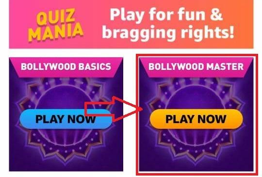 Amazon Mania Quiz - Bollywood Master