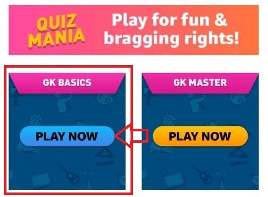 Amazon Mania GK Basic Quiz