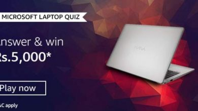 Photo of Amazon Microsoft Laptop Quiz : Play And Win 5,000Rs Pay Balance (20 Prizes)
