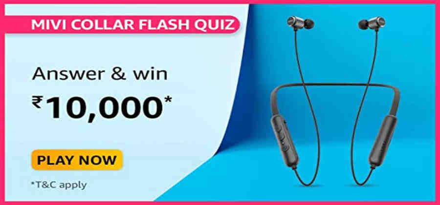 Amazon Mivi Collar Flash Quiz Answers