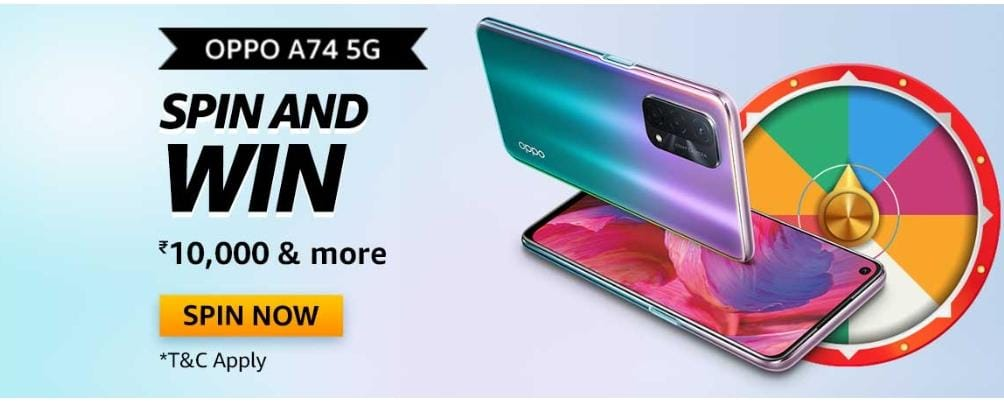 Amazon Oppo A74 5G Quiz Answers