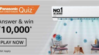 Amazon Panasonic Air Conditioner Quiz Answers: