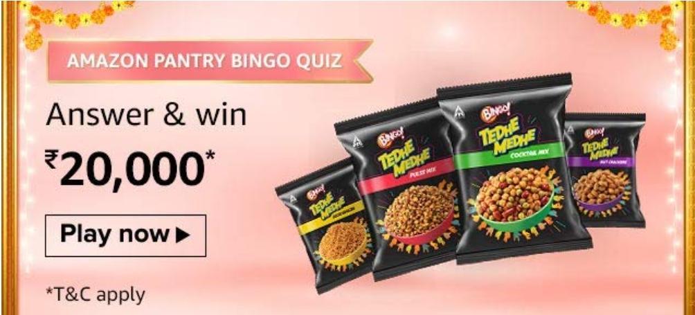Amazon Pantry Bingo Quiz Answers