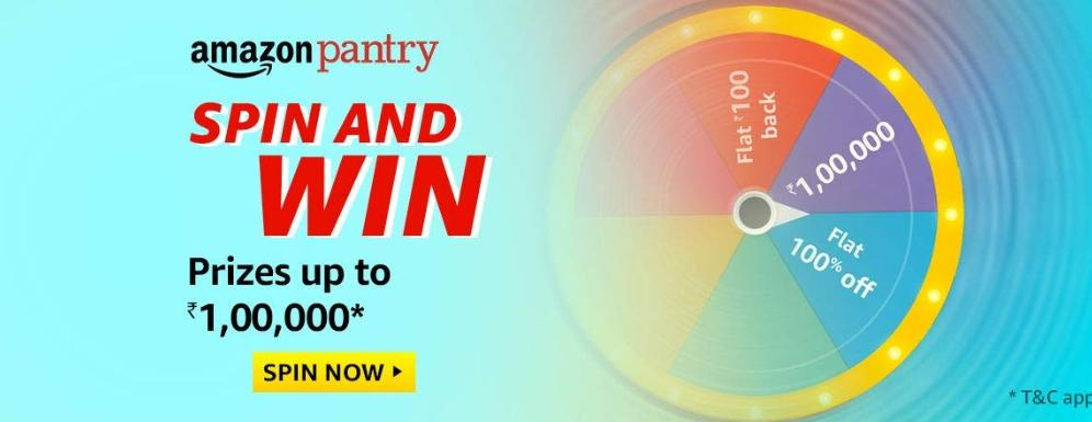 Amazon Pantry Spin And Win