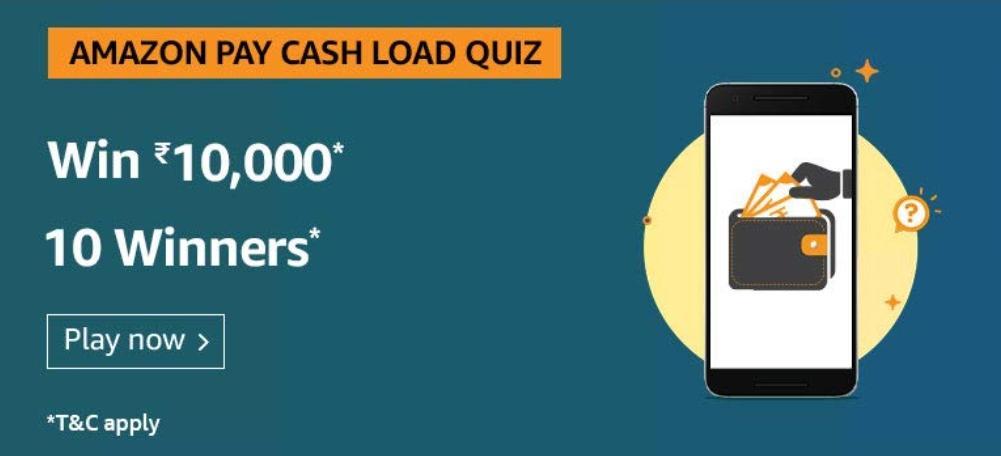 Amazon Pay Cash Load Quiz Ans