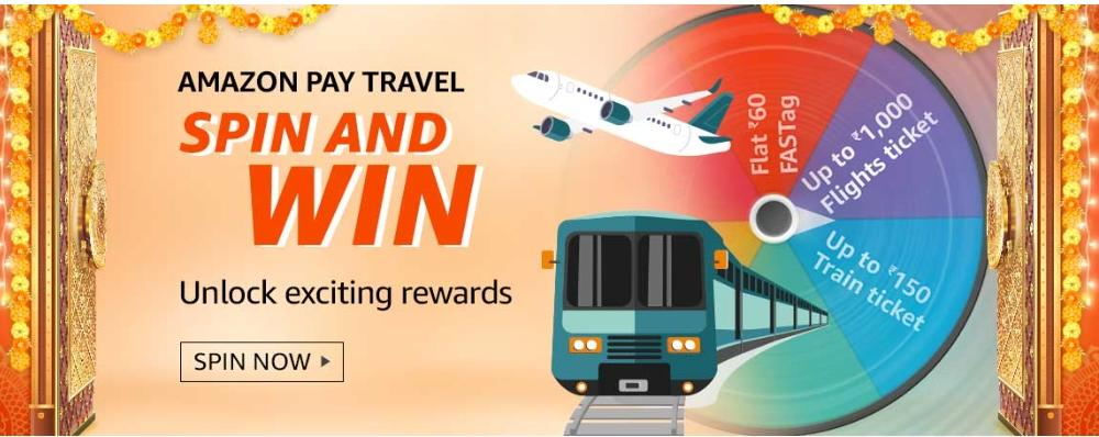 Amazon Pay Travel Spin and Win Quiz Details
