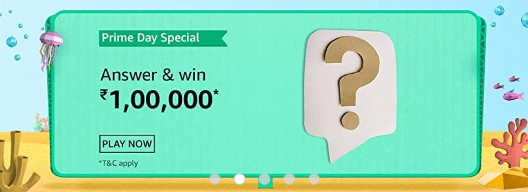 Amazon Prime Day Special Quiz Answers
