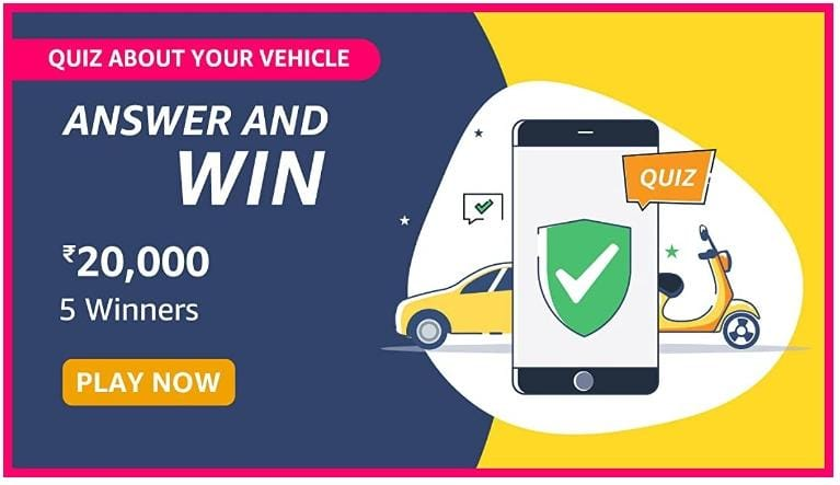 Amazon Quiz About Your Vehicle Answers