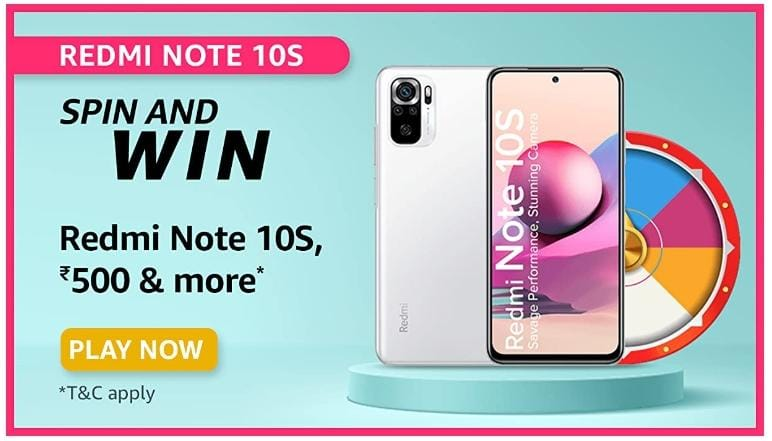 Amazon Redmi Note 10S Spin And Win Quiz Answers